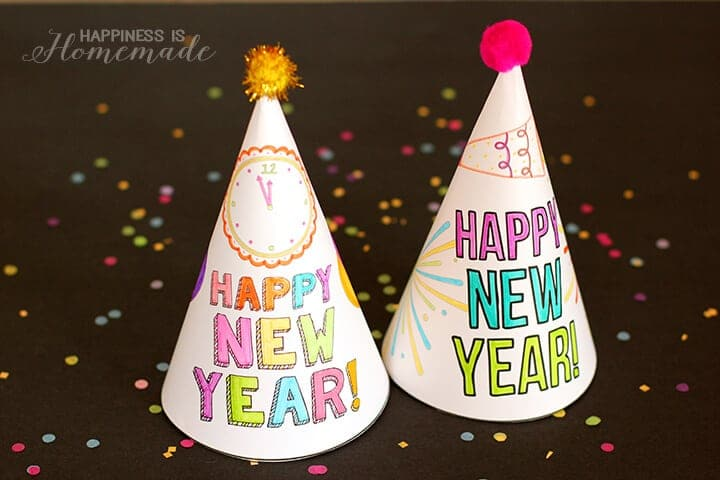 New Year's Eve hats for kids