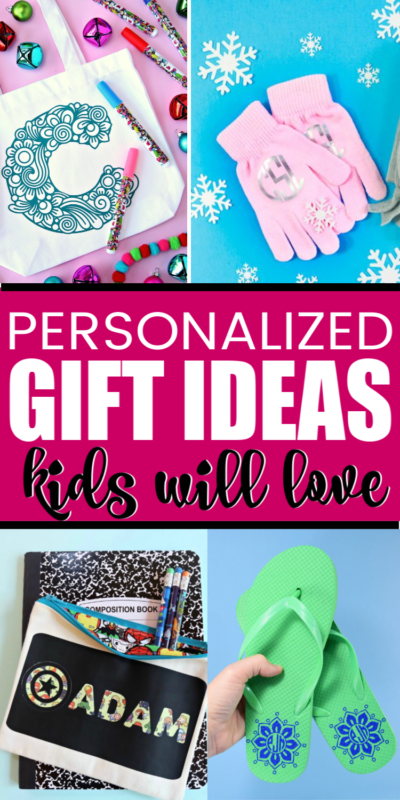 The best list of personalized gifts for kids! Everything from adventure boxes to water bottles and more! Fun ideas for boys and girls and perfect to DIY for Christmas gifts!
