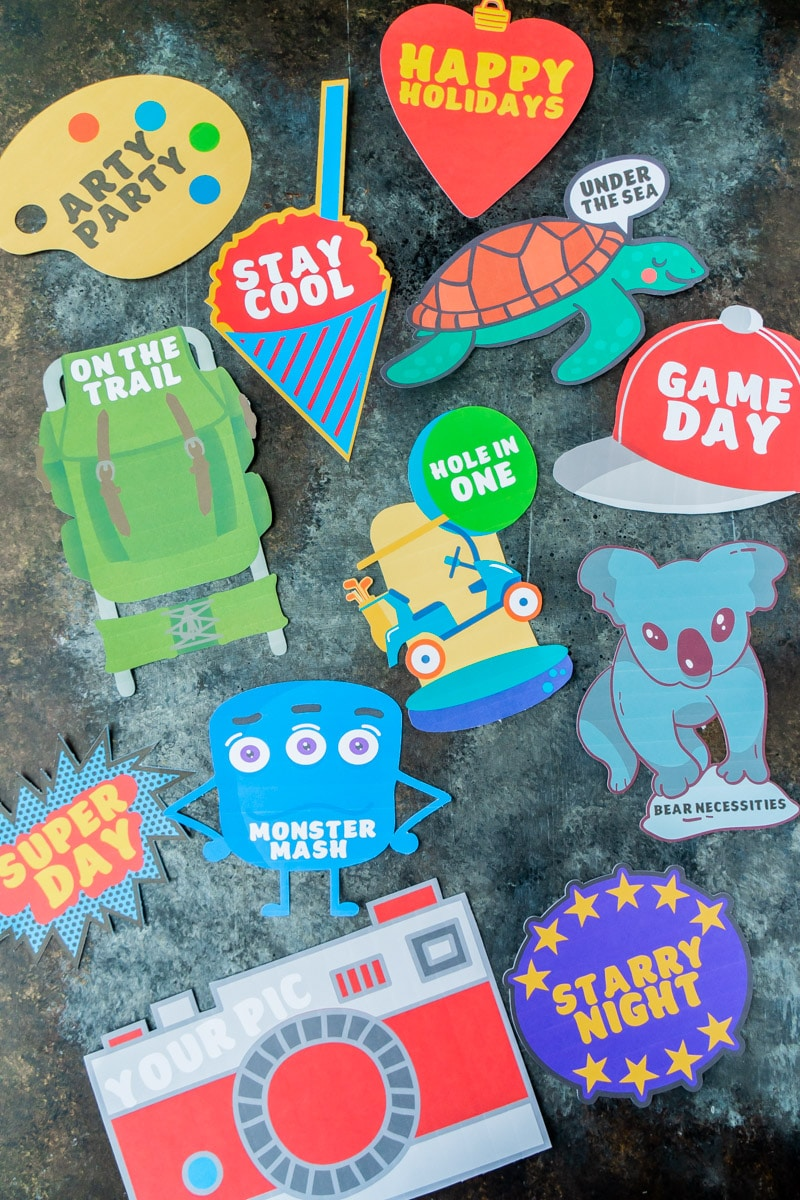 Themed cards to go with personalized gifts for kids