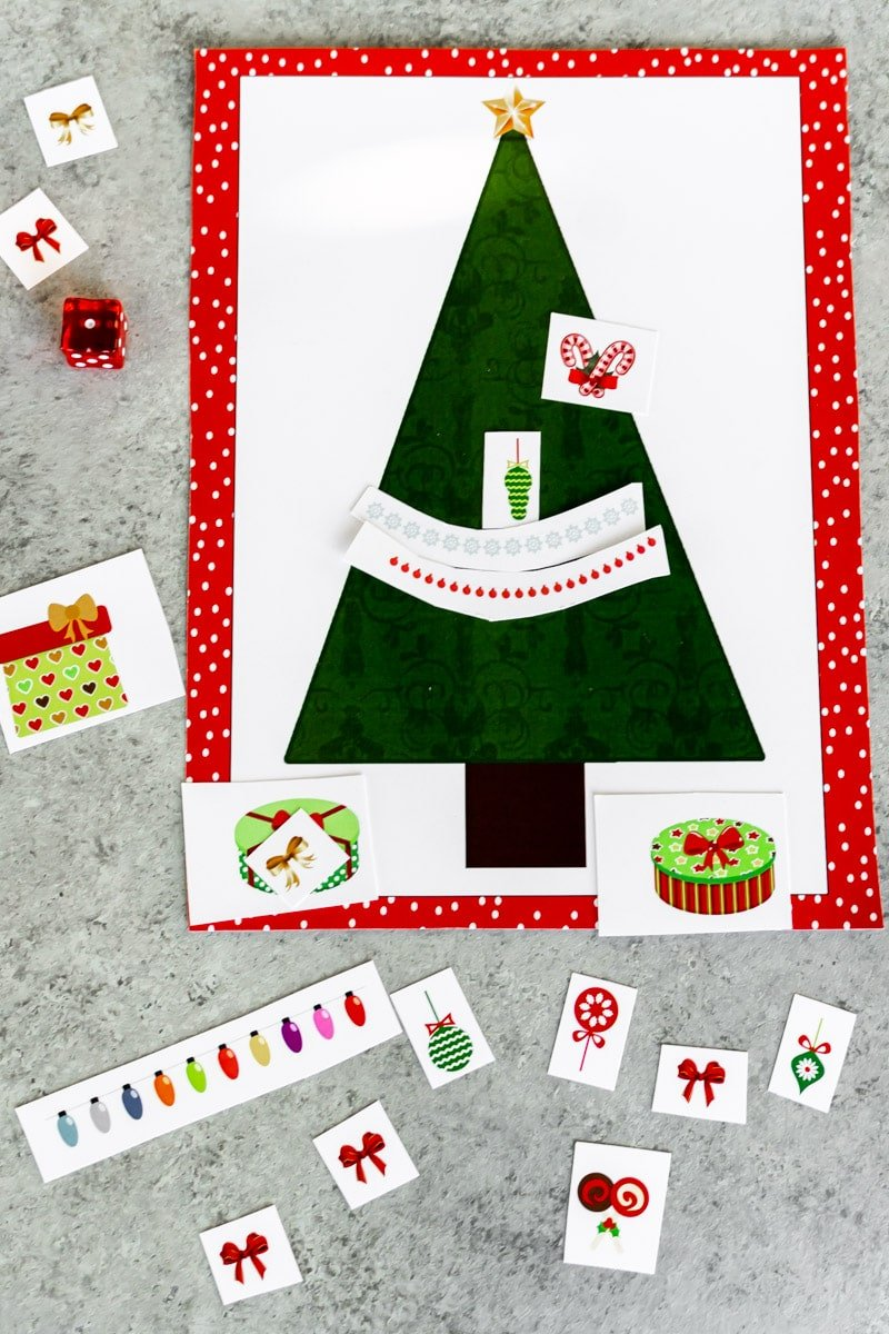 Decorated roll a Christmas tree