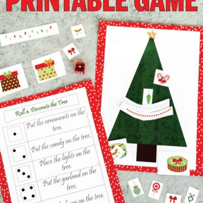 Free Printable Roll a Christmas Tree Dice Game