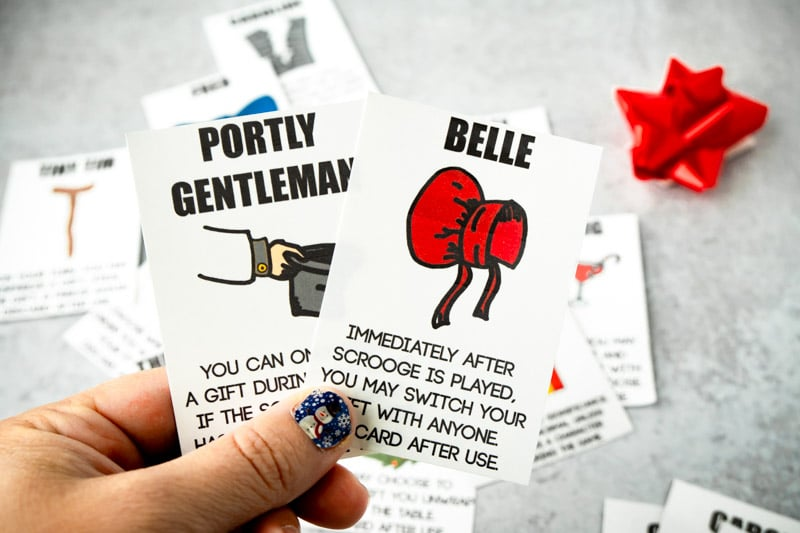 Belle and Portly Gentleman cards