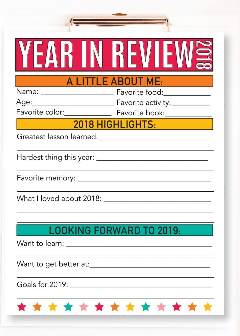 Year in review New Year's Eve ideas for kids