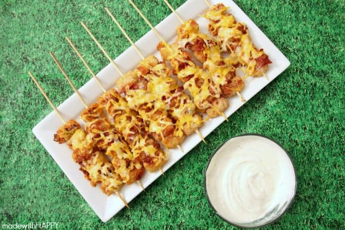 Anything on a stick makes a great Super Bowl party food