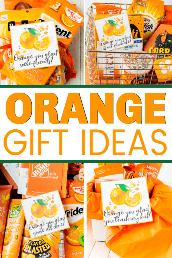 These orange you glad printable gift tags are so cute! Add them to some of the orange gift ideas for one of the best DIY thank you or holiday gift idea ever! Perfect for neighbor gifts, teacher gifts, or even a birthday gift for a friend!