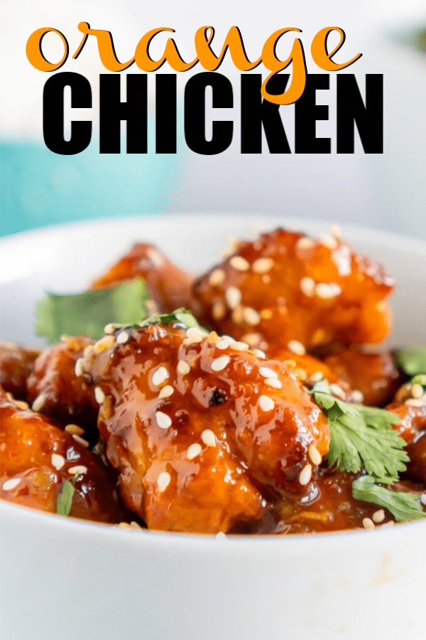 This easy orange chicken recipe starts with baked breaded chicken then gets the most delicious orange chicken sauce ever! It's crispy, more healthy than Panda Express, and a recipe you'll make over and over again!