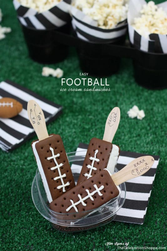 Super Bowl party ice cream sandwiches