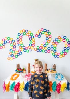 Fun backdrop and other new years party ideas