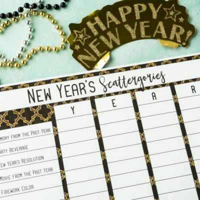 Free Printable New Year's Eve Scattergories Game