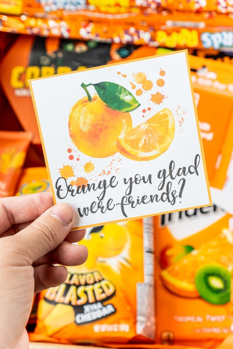 Orange you glad printable gift tags