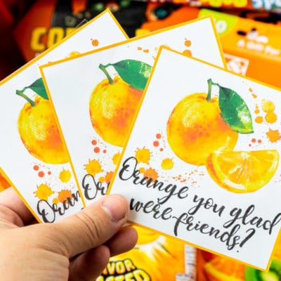 Orange You Glad Free Printable Gift Tags