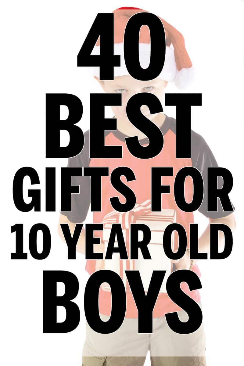 40 best gifts for boys age 10 and up! Great idea for those boys that aren't quite teens but are older than kids.