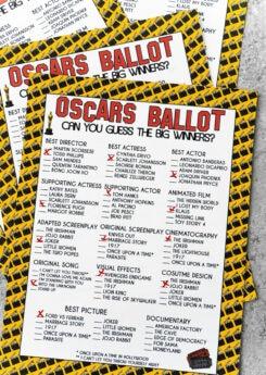 Printable 2020 Oscar ballot
