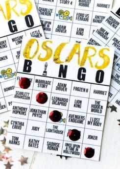 2020 Oscar bingo cards