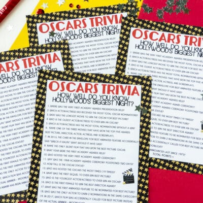 Free Printable Oscar Trivia Game