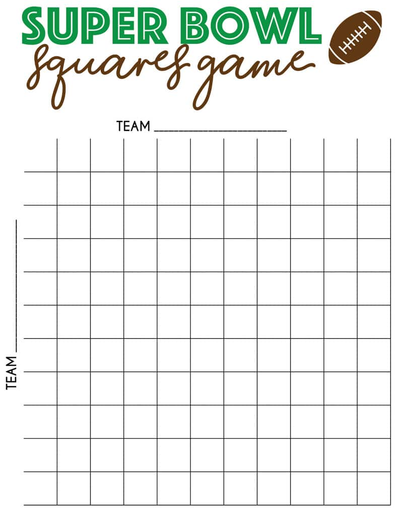 Invaluable image regarding printable superbowl squares template