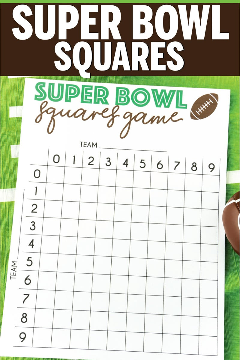 It is a picture of Printable Super Bowl Boxes for blank