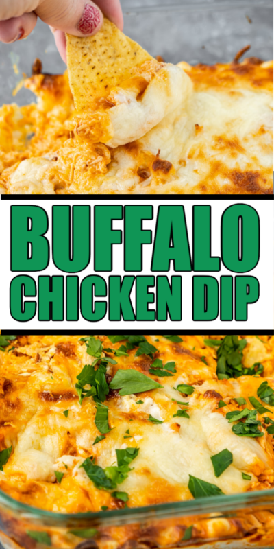 This easy buffalo chicken dip recipe is so yummy! Combine buffalo chicken with ranch, Franks buffalo sauce, and cream cheese for the best oven baked buffalo chicken dip!