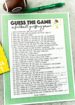 Fun Super Bowl guessing game