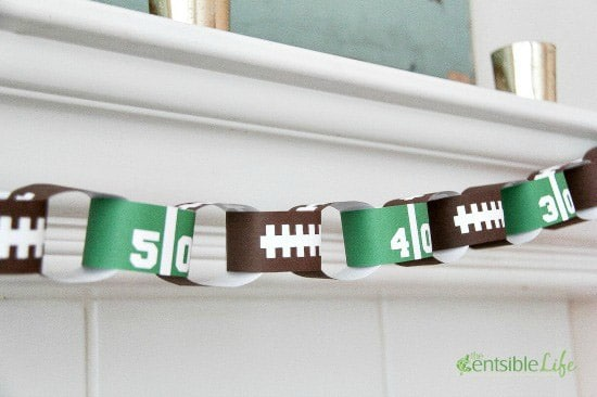 Super Bowl party ideas like a football paper chain