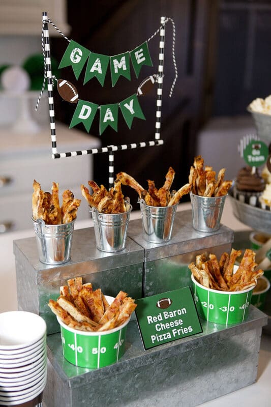 Easy concession stand Super Bowl party ideas