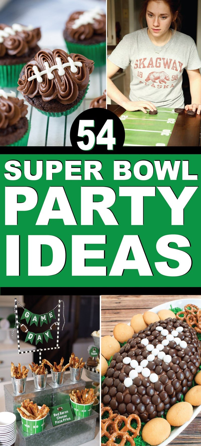 The best Super Bowl party ideas! Super Bowl party food, decorations, and games!