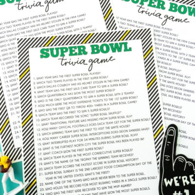 Free Printable Super Bowl Trivia Game