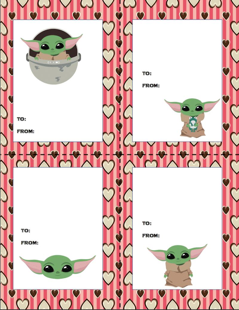 blank Baby Yoda valentines