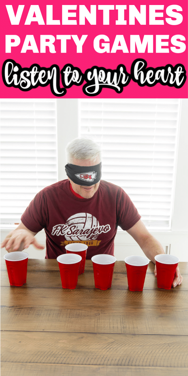 playing valentines day minute to win it games with cups