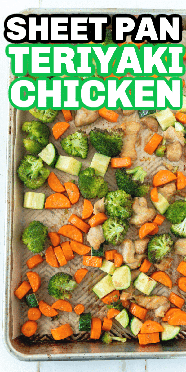 The best teriyaki sheet pan chicken and veggies recipe! Easy to make, healthy, and perfect for meal prep one day then enjoy all week long!