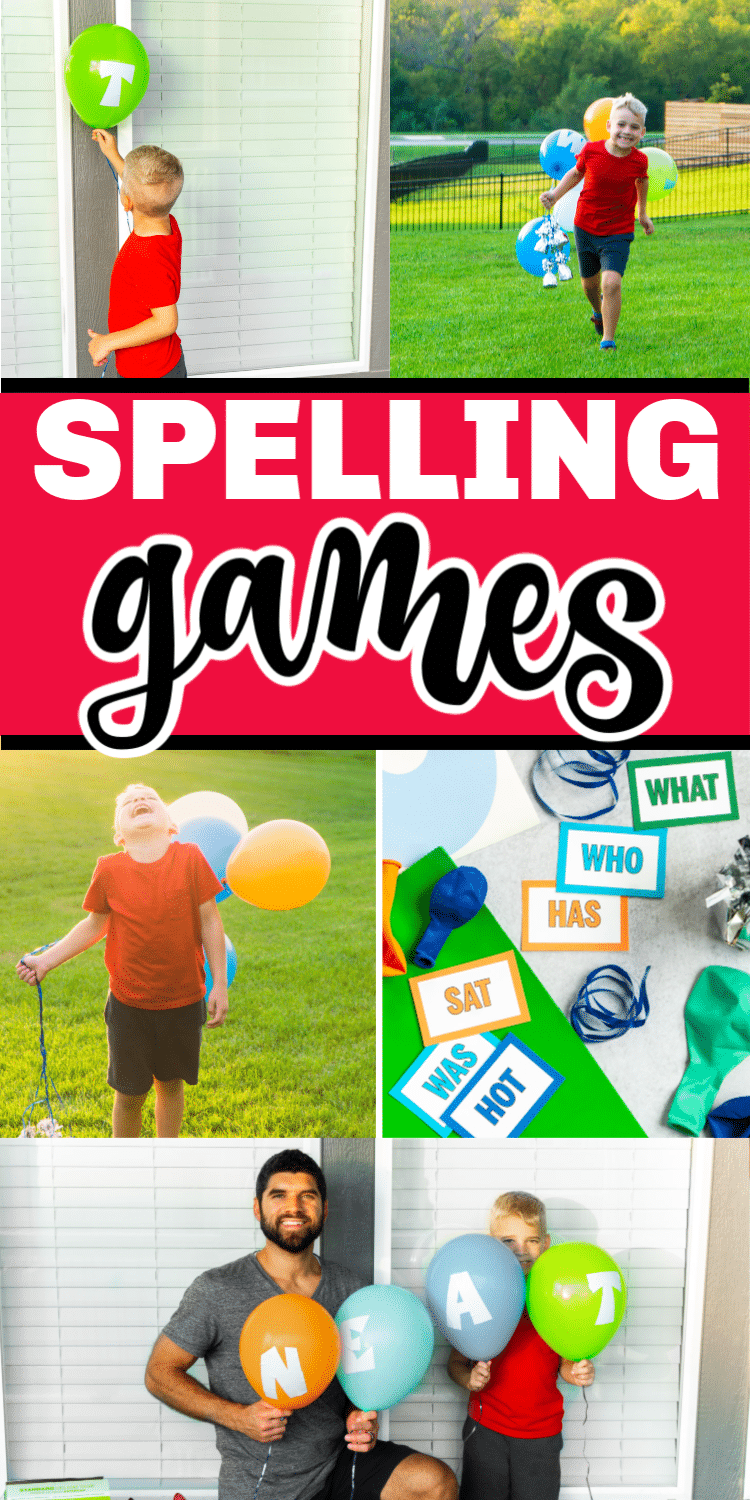 Nine fun spelling games for kids! Perfect for any age - first grade, 2nd grade, and even up through middle school! Super fun interactive games that would be fun for the whole class to play together! via @playpartyplan