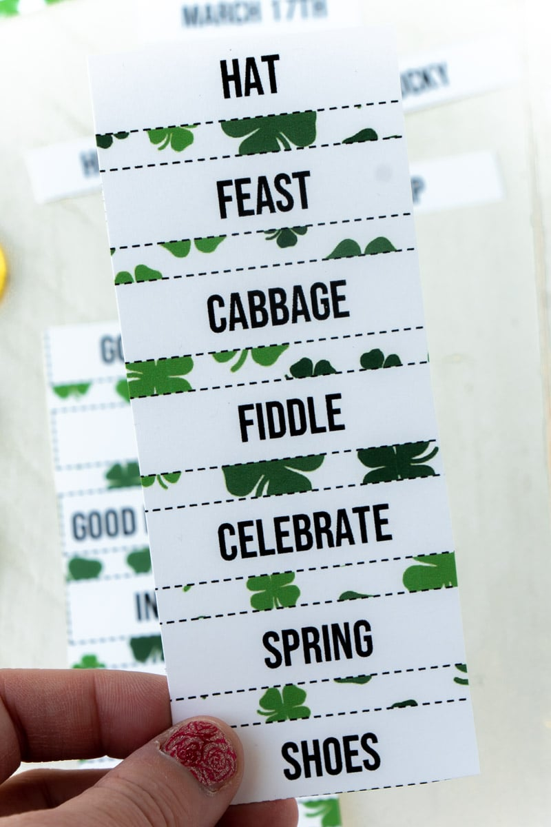 St. Patrick's Day charades words