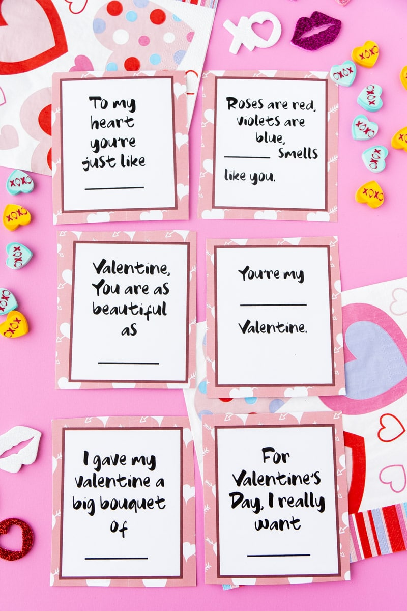 questions for Valentines Day card game
