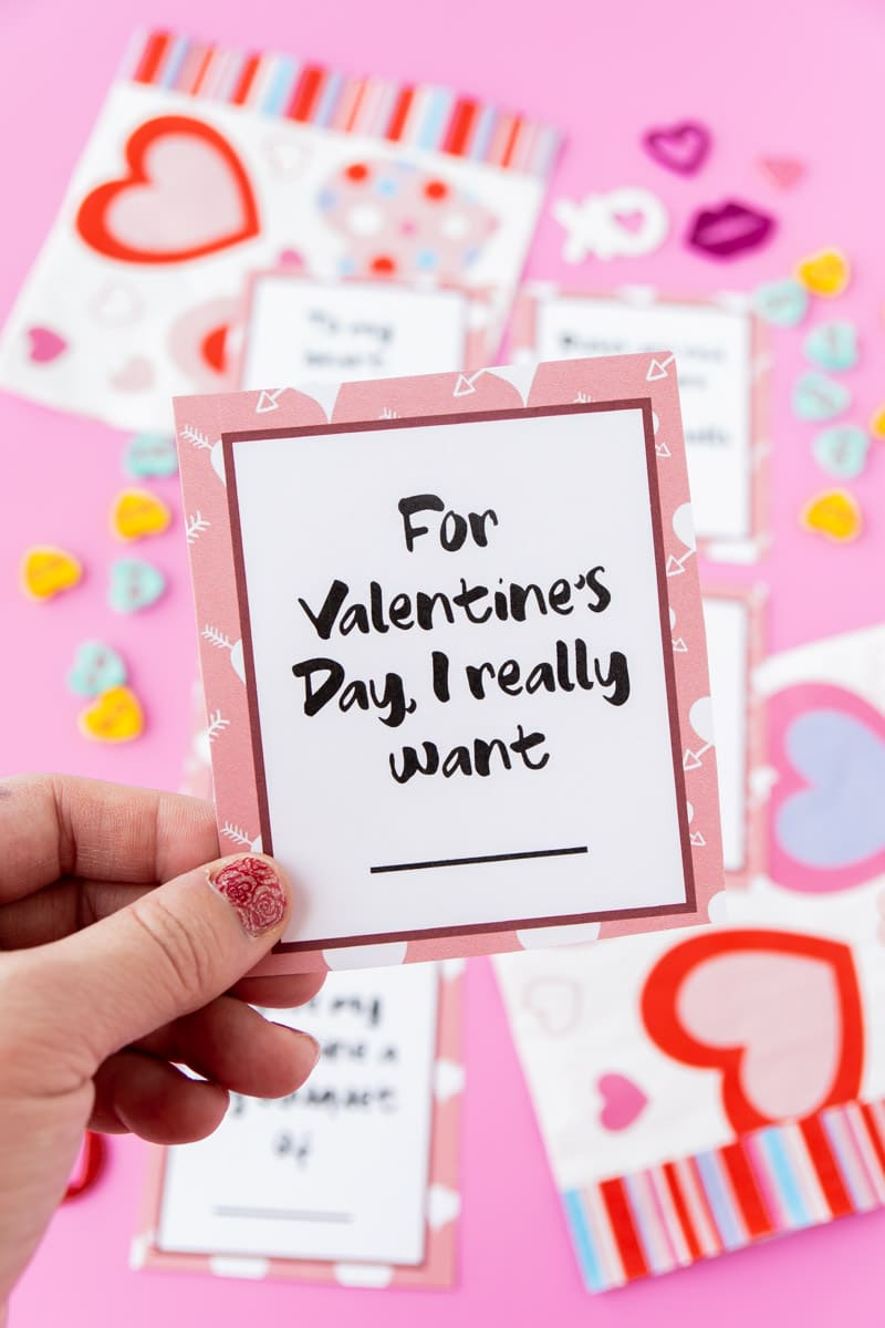 Valentines day card game