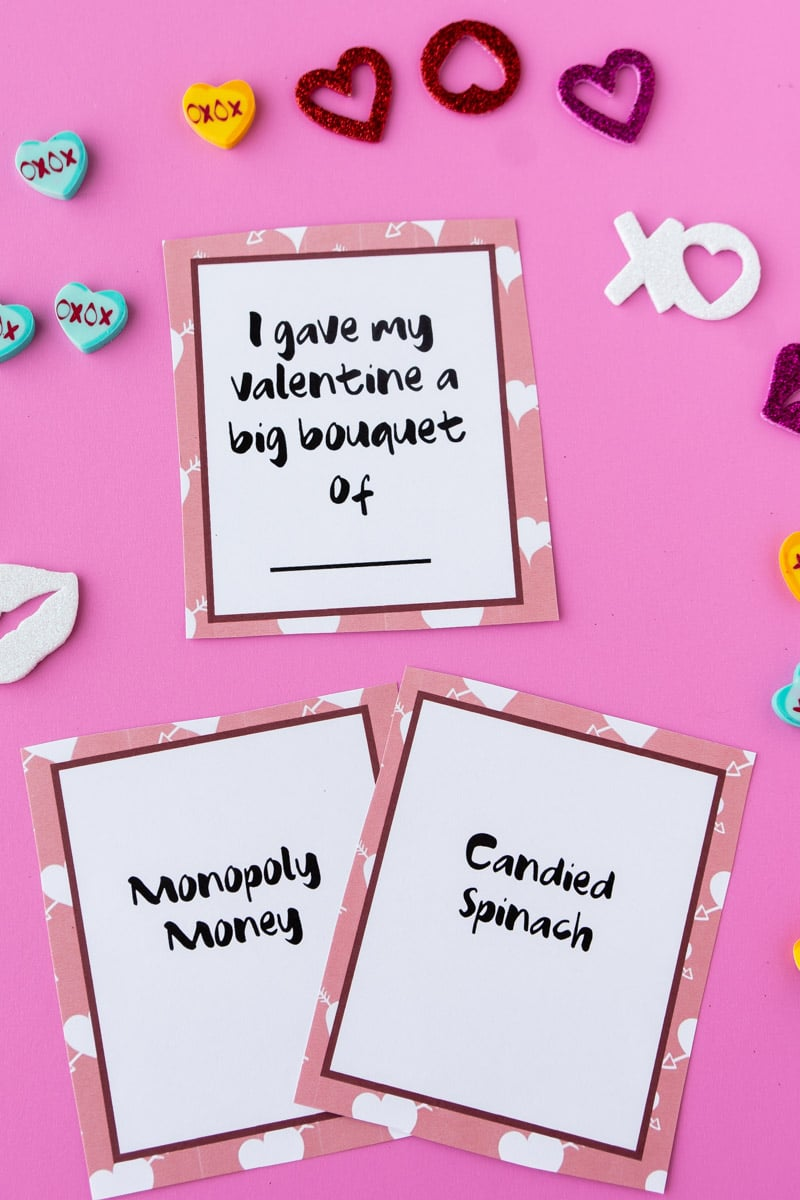 Valentine's Day card game cards