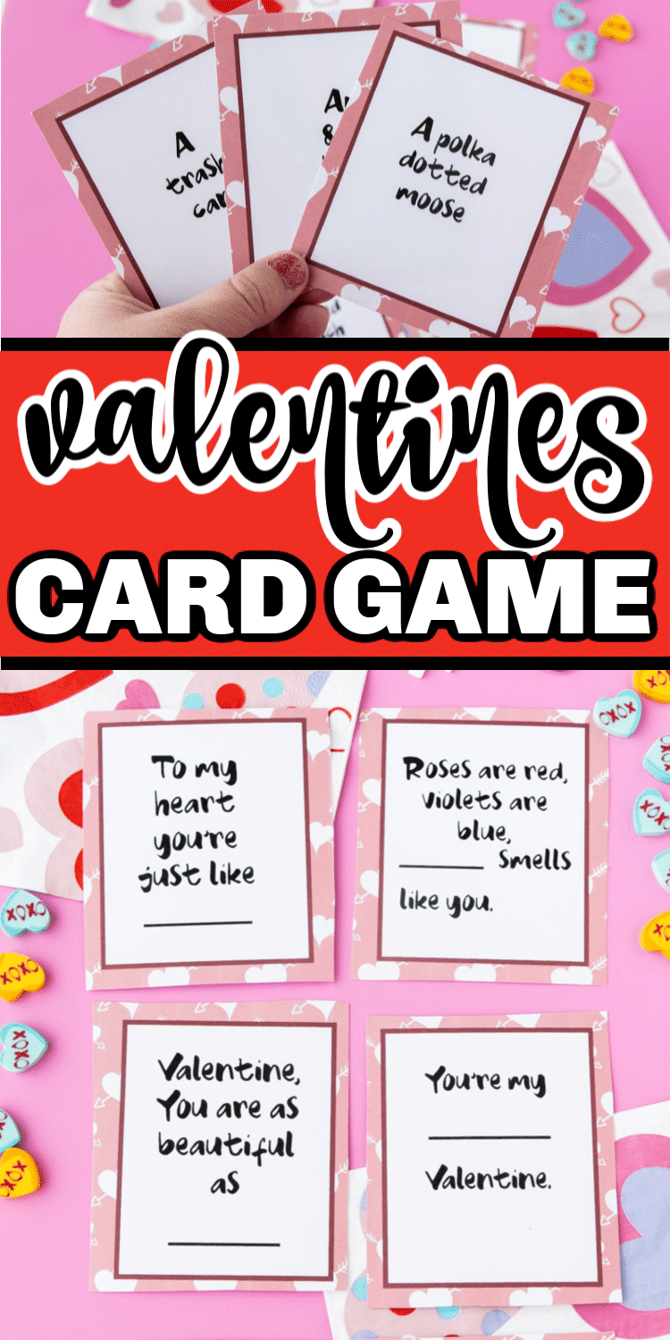 Free printable Valentines Day game for kids and adults! Perfect for a family-friendly Valentine's Day party!