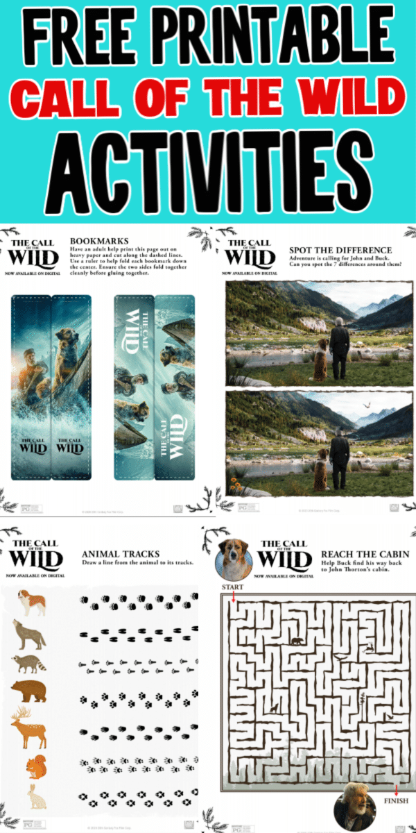 These printable Call of the Wild activities are perfect for a Call of the Wild movie night with the whole family! Simply print, play, and watch!