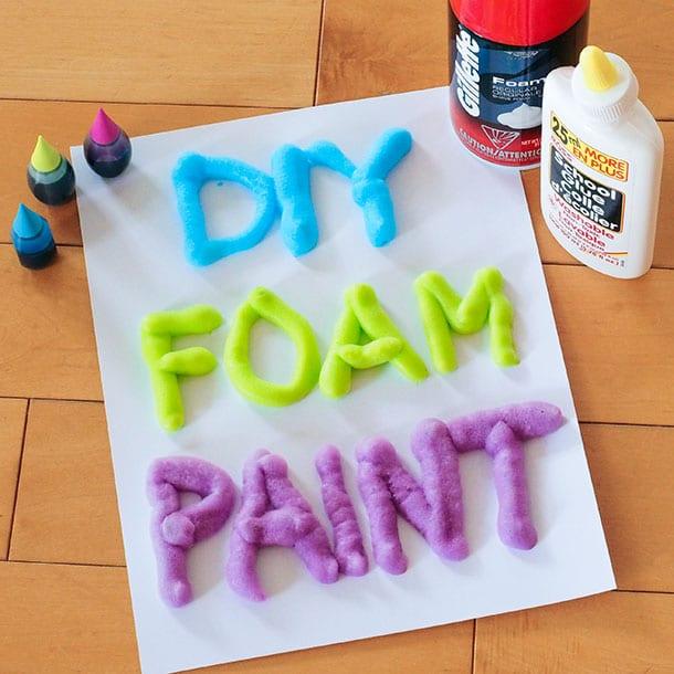 DIY foam paint