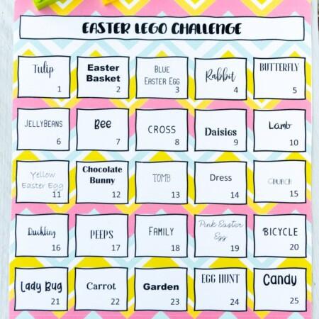 Easter Lego challenge calendar