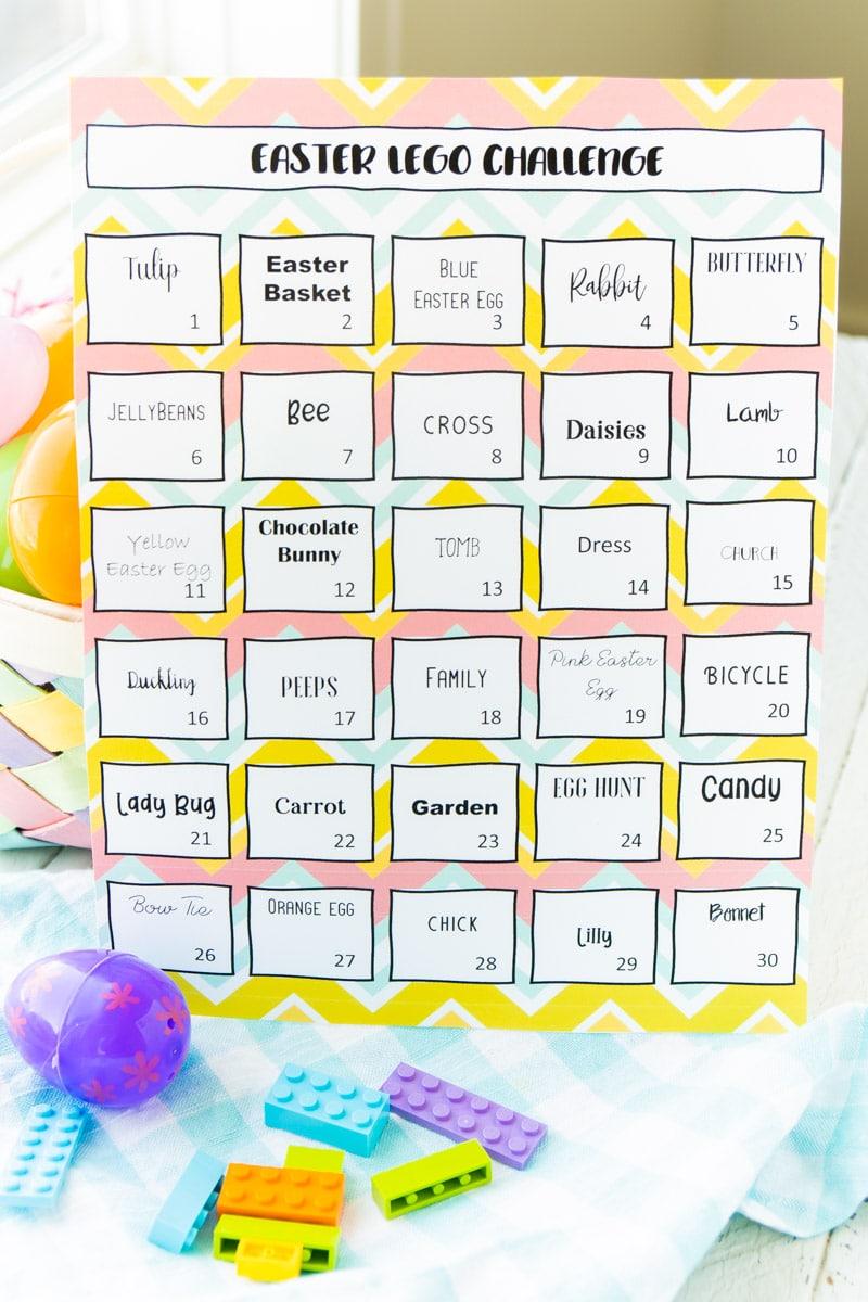 Easter lego challenge and Easter basket