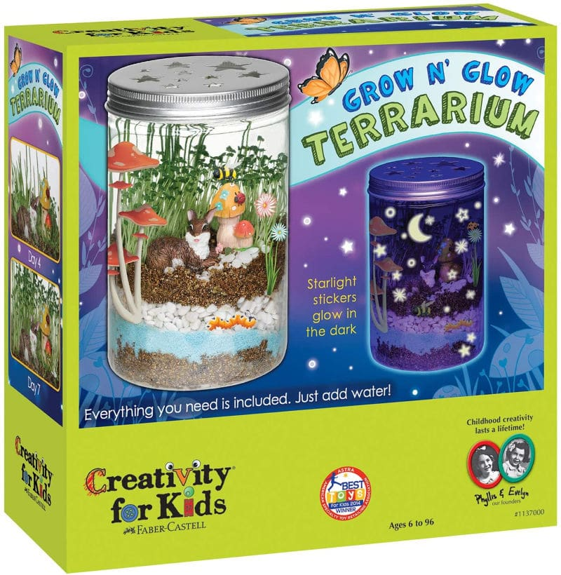 A glow terrarium and other indoor activities for kids