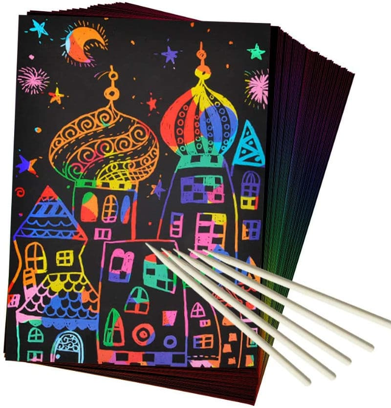 Magic scratch paper is perfect for indoor activities for kids