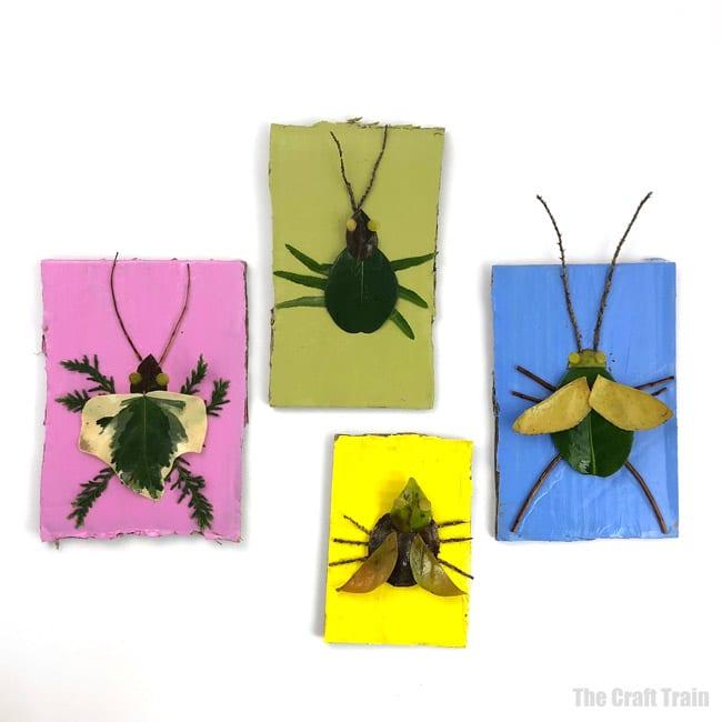 Nature craft bug indoor activities