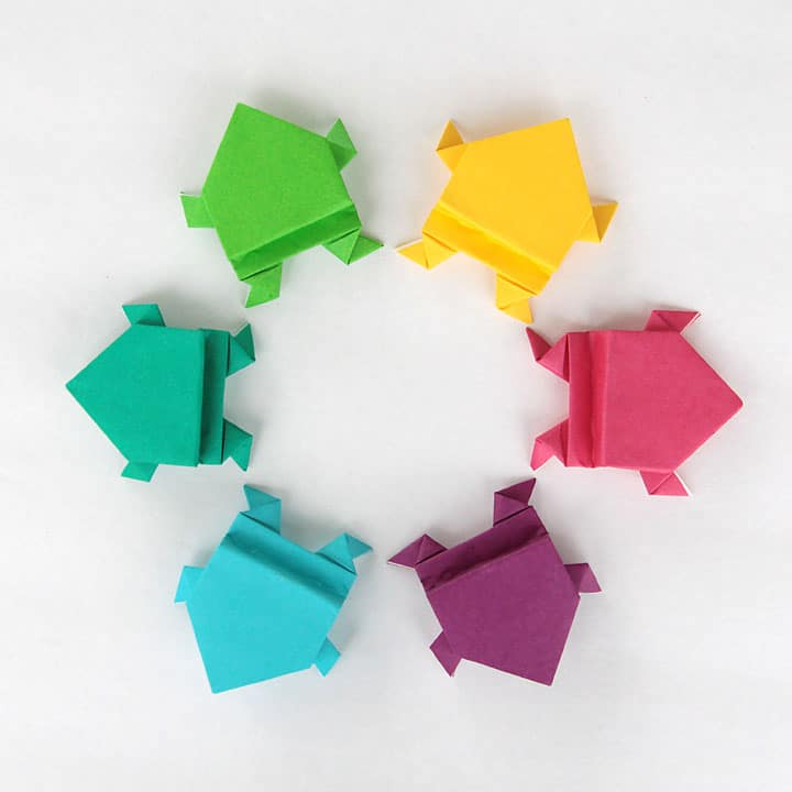 Origami jumping frogs are great for indoor fun