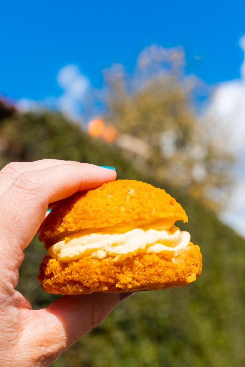 Cream puff at Disneyland Food and Wine Festival