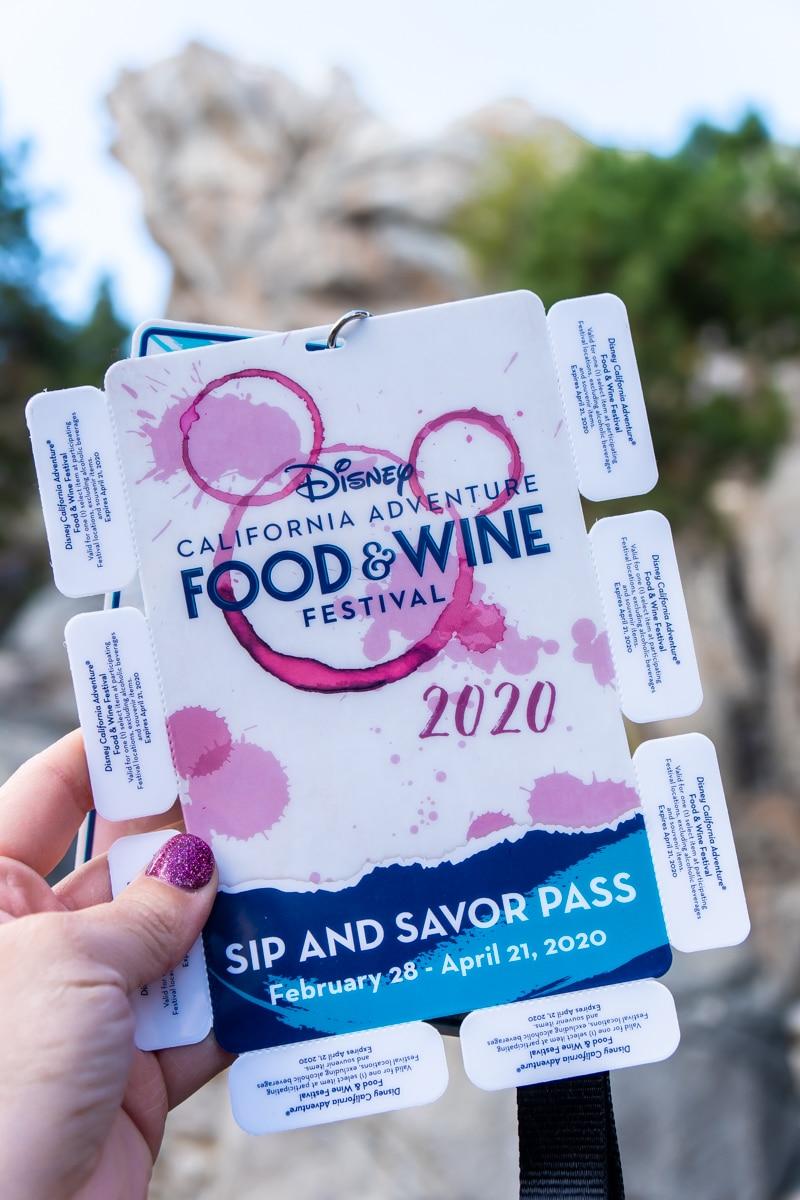 Disneyland food and wine festival sip and savor pass