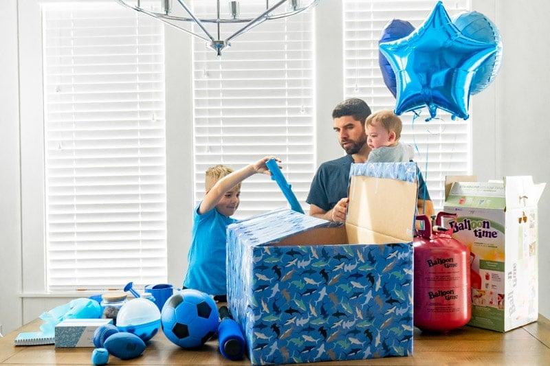 Blue gift box ideas