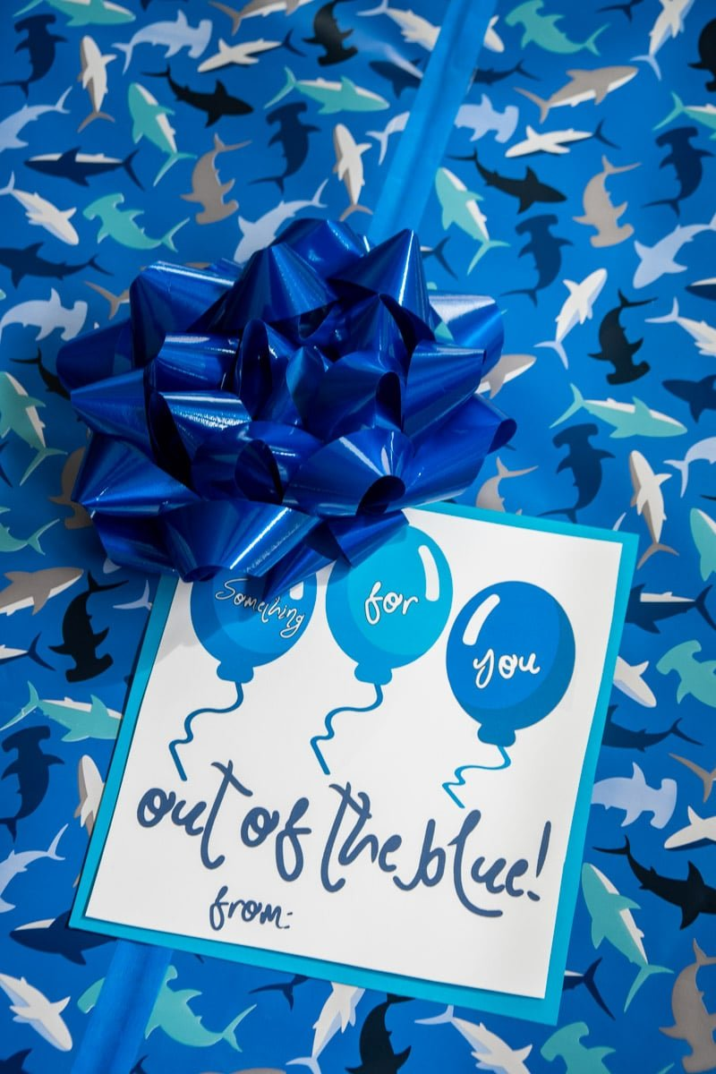 Printable out of the blue gift box ideas