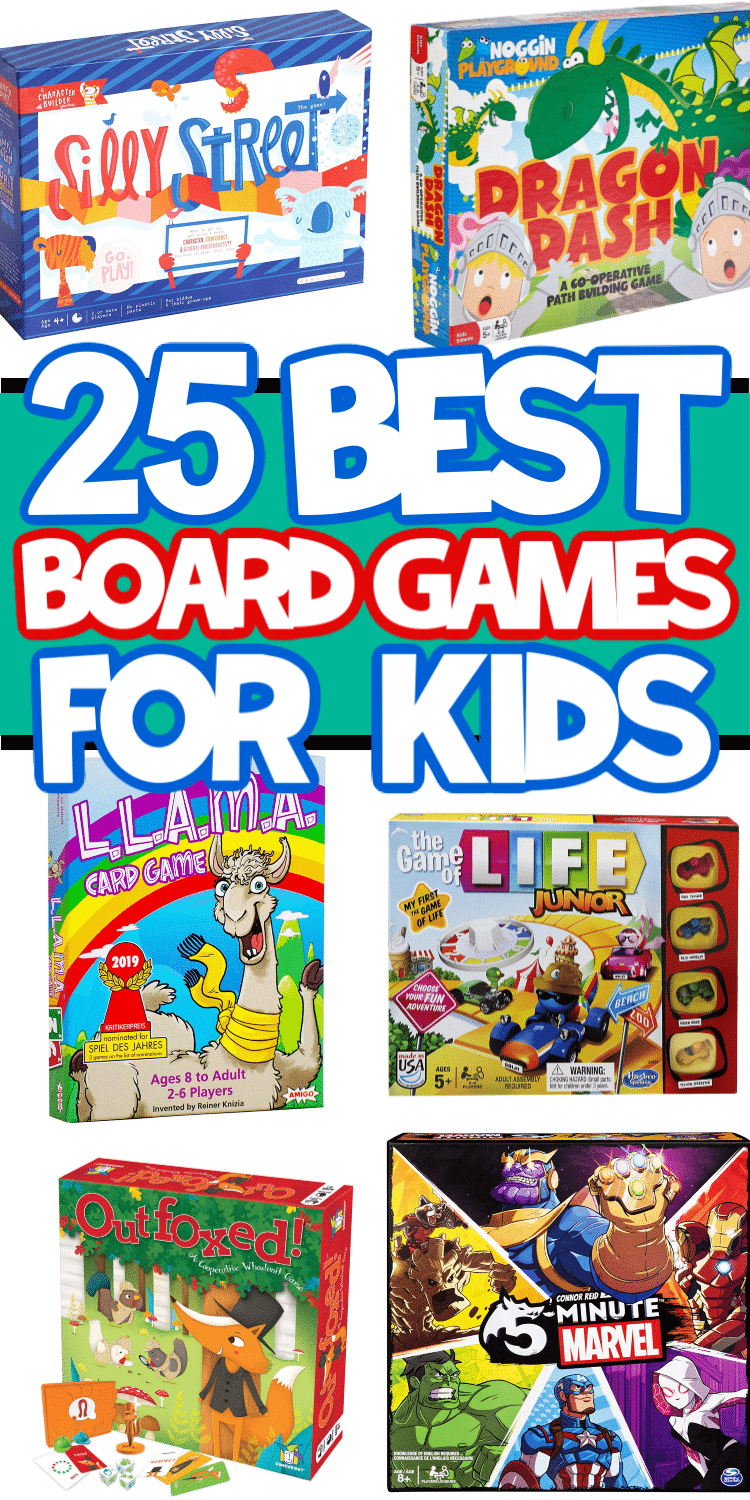 Twenty-five of the best board games for kids whether you want something educational, fun for kids and adults, or just something to entertain the kids for a few hours! Perfect if you want something other than classic board games for kids to add to your game closet!