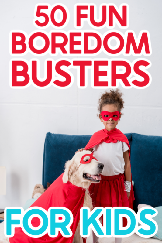 Kids dressed up doing boredom busters